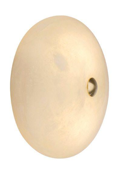Alabaster Wandlampe Donut Creme