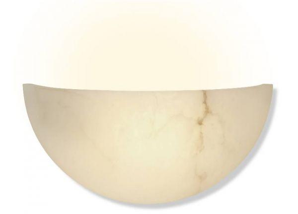 Alabaster Wandlampe Rondo Creme